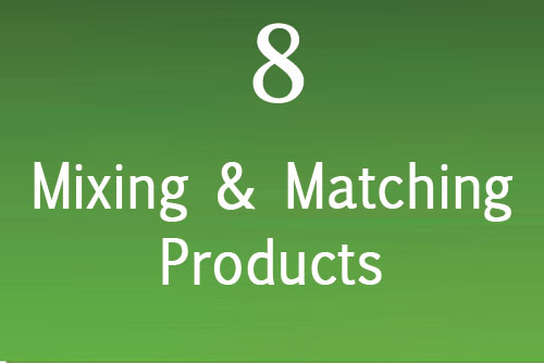 Mixing and Matching Products